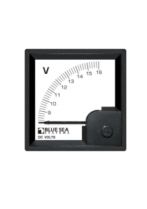 BLUE SEA DC DIN Voltmeter 8 to 16V DC 1050