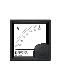 BLUE SEA DC DIN Voltmeter 18 to 32V DC 1051