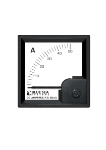 BLUE SEA DC DIN Ammeter 0-50A with Shunt 1053