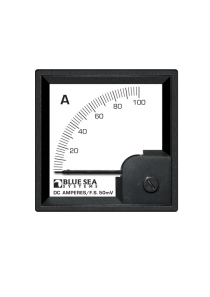 BLUE SEA DC DIN Ammeter 0-100A with Shunt 1054