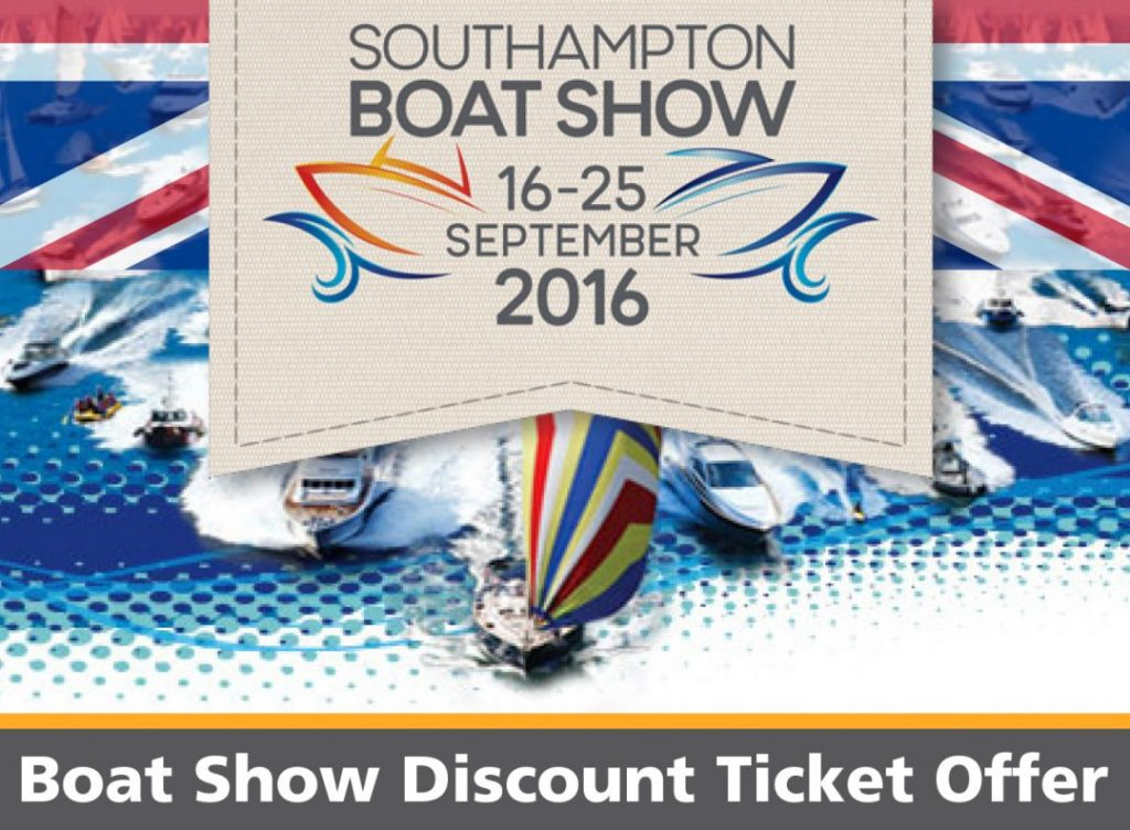 Ticket Offer Code for the Southampton Boat Show 2016
