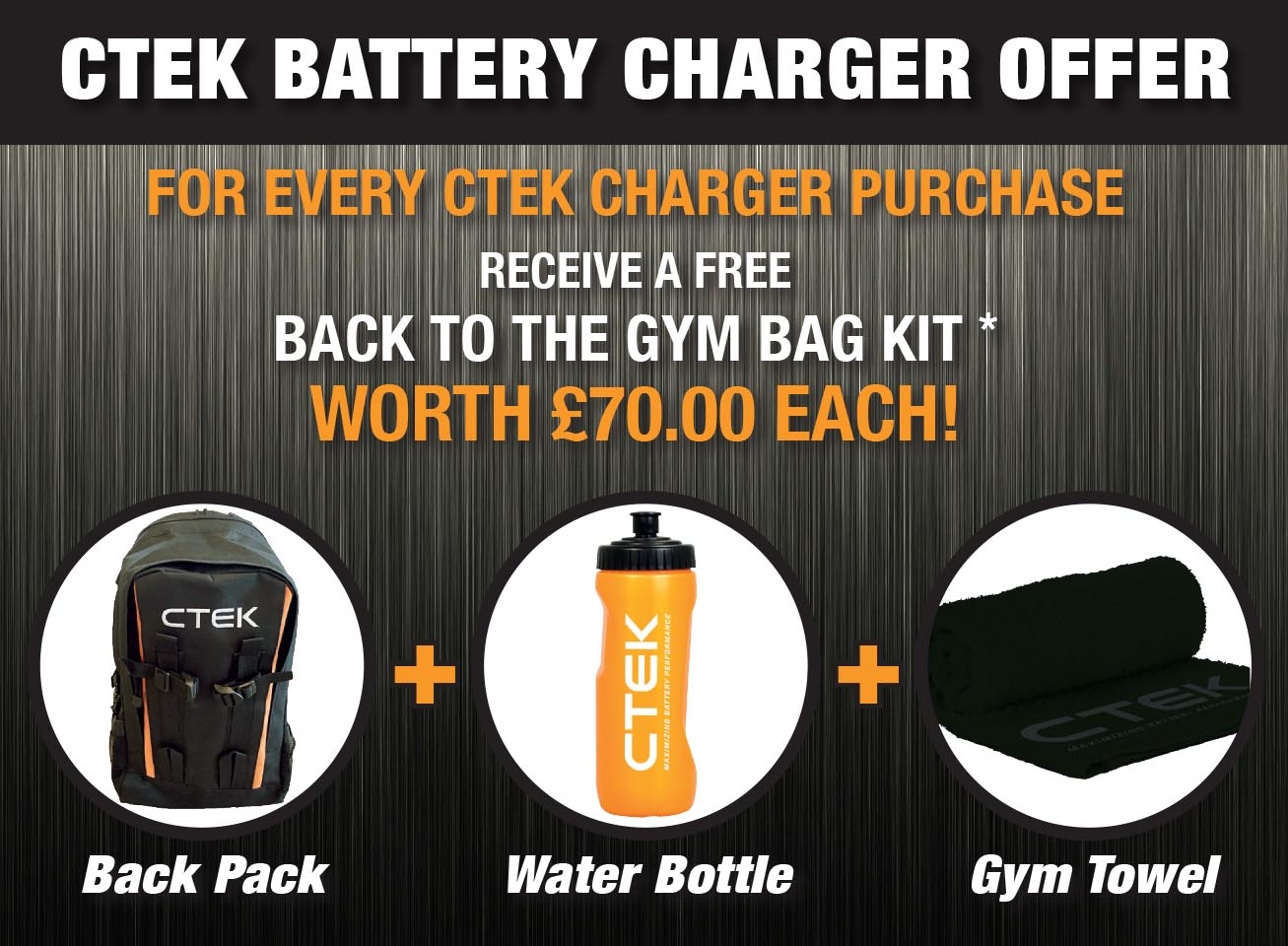 CTEK BATTERY CHARGER OFFER