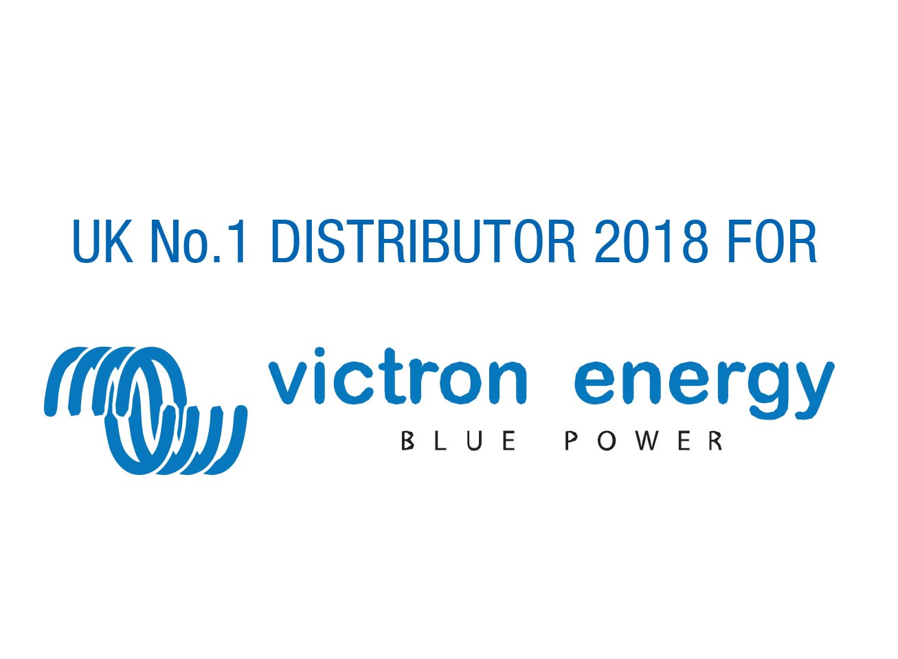 UK No.1 Distributor 2018 for Victron