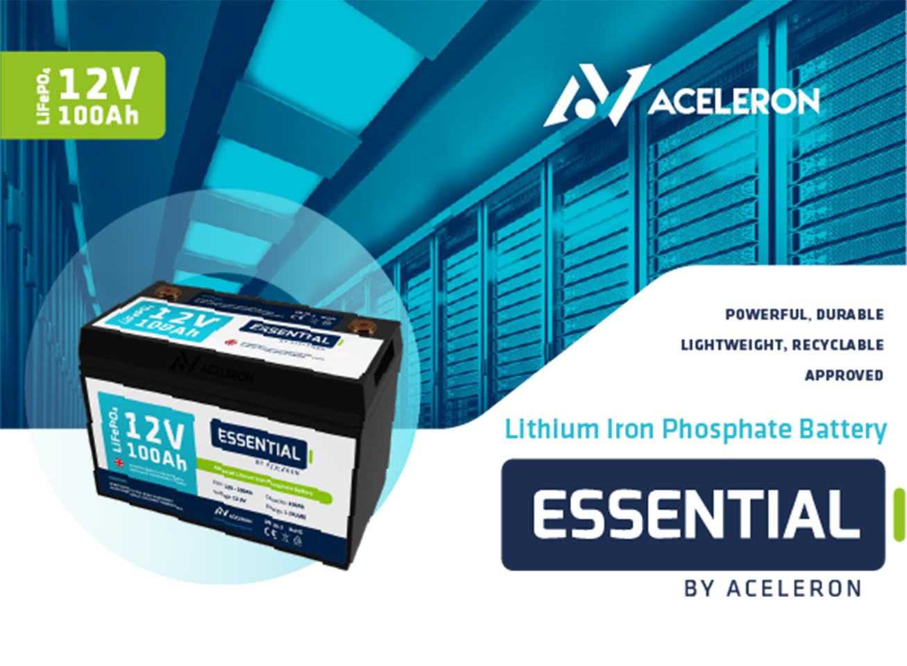 Essential By Aceleron – Lithium Iron Phosphate Battery